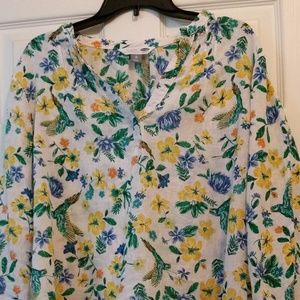 Old Navy Linen Cotton Tunic Shirt XL